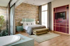Penthouse Suite at 5 star hotel: African Pride Melrose Arch Hotel. This hotel's address is: 1 Melrose Square Greater Melrose Johannesburg 2076 and have 118 rooms Arch Hotel, Melrose Arch, Penthouse Suite, Pent House, Interior Design, Bedroom, Boutique Hotels, Furniture, Pride