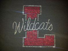 Wildcats / linn  Rhinestone bling shirt Blingitallover@gmail.com www.facebook.com/Blingitallover