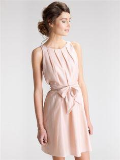 Damen-Kleid, Baumwolle und Seide ZARTROSA