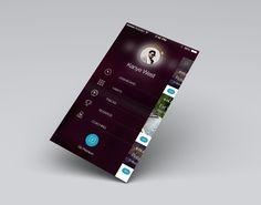 Side menu concept by Julia Khusainova
