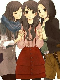 ✿ ┞ liran ┦ ✿ 收 图 7197917541 cute anime girl outfits anime, manga girl и fr Chica Anime Manga, Anime Chibi, Kawaii Anime, Anime Art Girl, Manga Girl, Anime Girls, Anime Best Friends, Friend Anime, Anime Friendship