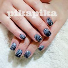 black n white ink split, gel nail design  #nails #nail #fashion #style #TagsForLikes #cute #beauty #beautiful#instagood #pretty #girl #girls #stylish #sparkles #styles #gliter #nailart #art #opi#photooftheday #essie #unhas #preto #branco #rosa #love #shiny #polish#nailpolish #pikapika_nails