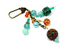 Purse Charm with glass beads for extra by EClecticCreationbyUs