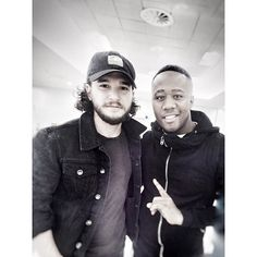 Great catching up with Kit Harrington AKA Jon Snow, very cool dude! #gameofthrones #chasethedream #Teamflawless #flawless2015