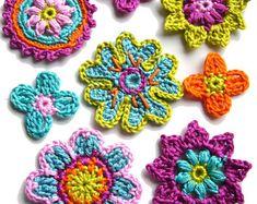Crochet Clutch Pattern, Crochet Mandala Pattern, Schmuck Design, Crochet Flowers, Crochet Projects, Diy And Crafts, Knit Crochet, Crochet Earrings, Embroidery