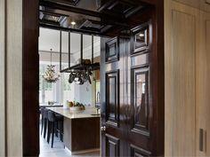 Country House, Windsor | Louise Bradley | Interior Design. NICE, SLEEK COUNTER STOOLS.