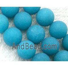 round matte jade beads, blue dia, per st Jade Beads, Saints, Blue