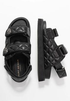 Kurt Geiger London ORSON - Sandalen - black - Zalando.nl Kurt Geiger, London, Sneakers, Shopping, Shoes, Black, Fashion, Sandals, Tennis