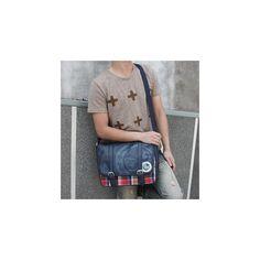 Plaid Buckled Messenger Bag $34