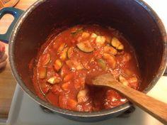 Zucchini in Tomato Sauce (Canning)