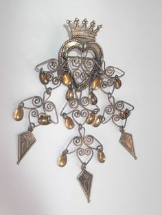 Vintage s Norwegian Aksel Holmsen 925 Silver Solje Wedding Brooch Bridal Crown, Summer Events, Wire Wrapped Jewelry, Vintage Brooches, All Art, Brooch Pin, Norway, 925 Silver, Bling