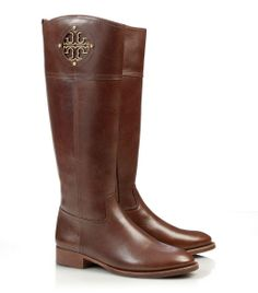 Gorgeous Leather Tory Burch Boots.