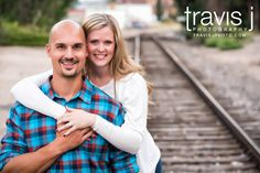 Engagement Session by the railroad tracks, Travis J Photography, Colorado