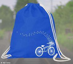Turnbeutel Fahrrad Rucksack +Blau+DaWanda.com