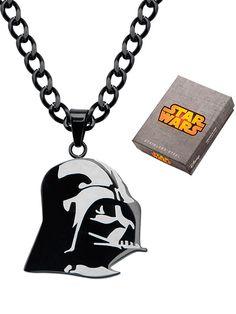 """Darth Vader"" Pendant with 24"" Chain by Inox Jewelry (Black) #InkedShop #DarthVader #necklace #jewelry #StarWars #geekchic"