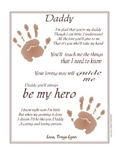 Items similar to Always My Hero, Take My Hand Daddy© Poem Baby / Child Handprints Hand Print Art ~ New Father's Day Gift, Birthday, Christmas on Etsy Kids Fathers Day Crafts, Fathers Day Poems, First Fathers Day Gifts, New Fathers, Daddy Gifts, Mom Gifts, Diy Father's Day Crafts, Father's Day Diy, Baby Crafts
