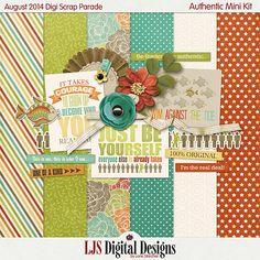 Authentic mini kit freebie from LJS Digital Designs