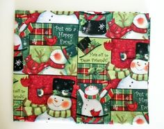 Christmas Fabric By The Yard Quilting Sewing Susan Winget Snowman Collage Collection Mittens Ice Skates by NeedlesnPinsStichery on Etsy