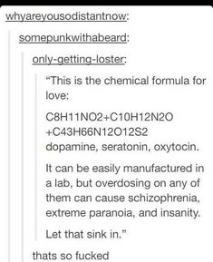 I guess you can say it's a chemical romance