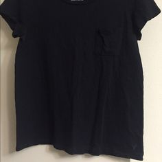 "Regular black fitted shirt with front pocket This was a really good shirt. It could be worn dressed up or casual. Has the ""worn"" look to it but this shirt was taken care of. American Eagle Outfitters Tops Tees - Short Sleeve"
