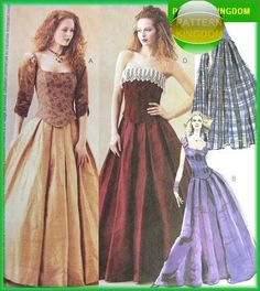 McCalls 3315 Gothic Renaissance Style Bustier & Skirt Patterns