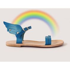 18 COLOURS Customise your Ermes winged UNISEX handmade leather sandal. (125 CAD) ❤ liked on Polyvore featuring shoes, sandals, leather footwear, wing shoes, winged sandals, unisex sandals and leather shoes