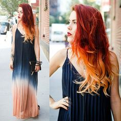 Sunset hair colour style~ best choice for 2015 Fall