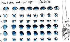 How I Draw And Color Eyes by Abhie008.deviantart.com on @deviantART