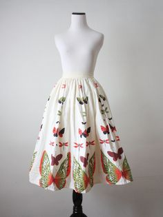 50s novelty print skirt