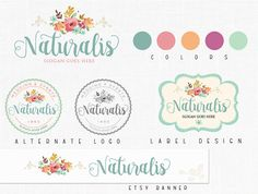 Floral Branding Package - Logo Design - Alternate Logo - Label Design -  Etsy Banner