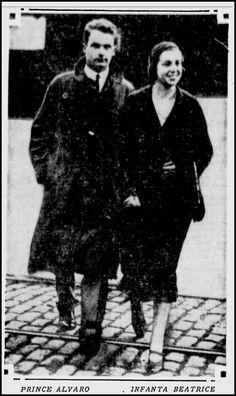 Infanta Beatriz and Prince Alvaro of Orleans-Borbón
