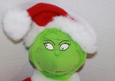 """Hallmark classic Dr Seuss How the Grinch Stole Christmas Plush Doll. He has pockets for his Hands and is about 17"""" Soft Toy #Hallmark #Christmas #HowTheGrinchStoleChristmas"""