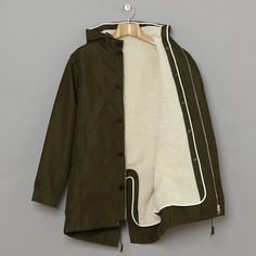 A.P.C. wool fishtail parka with a removable lining. So lovely.
