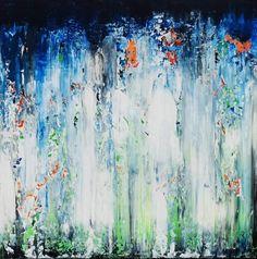 Acrylbild auf Leinwand – Rakelkunst – Rakel 51 – 70 x 70 cm -AbstrakteKunstDeppe.de