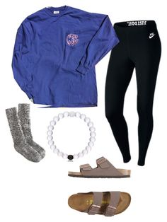 """""""Me in Winter time for school"""" by taylortraywick on Polyvore featuring NIKE, Birkenstock, J.Crew and school"""