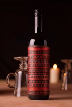 wine  belt label