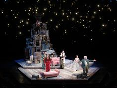 TONY CISEK scenic design  *** the suspended lights are beautiful - both the lighting and set design give a sense of small surface area but big atmosphere