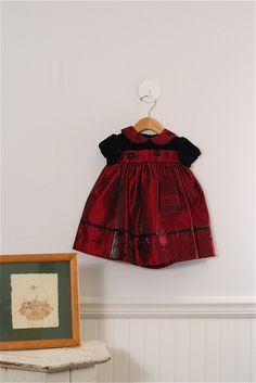 Short sleeve Christmas dress with diaper cover. Size 12-18 Mo. Girls by Jona Michelle, just $12.99