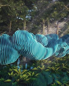 #waves #cinema #c4d #cinema4d #render #octanerender #photoshop #substance #daily #3d #gfx #graphics #graphic #design #abstract #art #surreal #organic #realistic #blue #forest #water #pines #nature #rsa_graphics