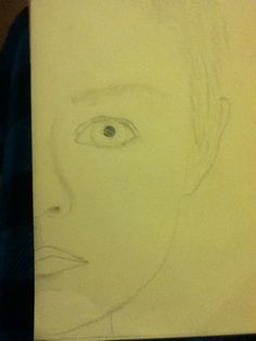 A picture I drew of my little bro ( I drew half of his face cause it was a heck of a lot easier)