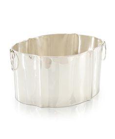 Silver Shapely Ice Bucket