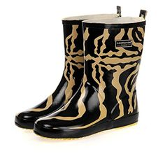 Fashionmore Womens Leopard Print Rain Boots US 85 Yellow >>> This is an Amazon Affiliate link. You can get additional details at the image link.