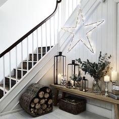 The White Company Beaded Ultimate Christmas Star Decoration Large Christmas Hallway, Christmas Room, Noel Christmas, Simple Christmas, Winter Christmas, Christmas Lights, Christmas Lounge, Rustic Christmas, Winter Snow