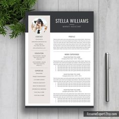 Modern Resume Template / CV Template Cover Letter by ResumeExpert
