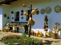 Skanzen Open-Air Museum of Ethnography, Szentendre, Hungary Popular Art, Arte Popular, Art And Architecture, Old Houses, Folk Art, Stalls, Homeland, Farm House, Nostalgia