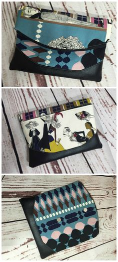 Free foldover clutch purse sewing pattern. The Heidi bag from Swoon patterns. Photos by Hilari Sheffield