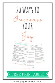 A biblical approach to finding more joy in life.