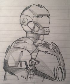 iron drawing drawings avengers ironman pencil marvel cool sketch kunst easy coloring pages captain america thor