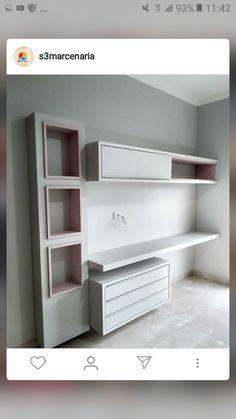 Study Room Decor, Living Room Tv Unit Designs, Room Design Bedroom, Master Bedrooms Decor, Stylish Bedroom, Home Room Design, Small Home Offices, Dressing Room Design, Home Office Design