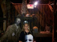 My hair went flat due to the heat but I don't think this zombie would mind eating me anyway